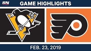 NHL Highlights   Penguins vs. Flyers - Feb 23, 2019