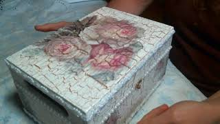 Altered Decoupage Cigar Box