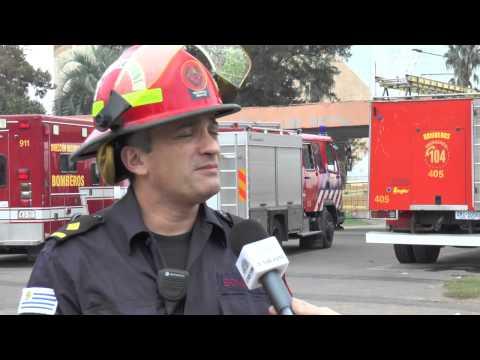Operativo Bomberos: Implosión Cilindro Municipal