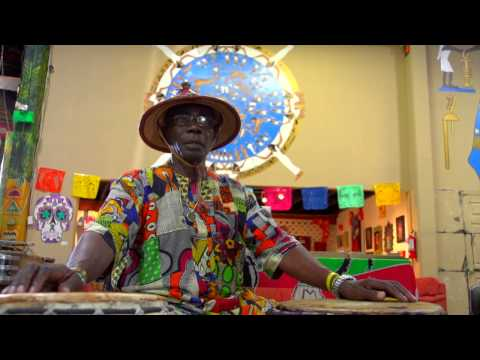 This is a interview of  Nana Obrafo Yaw Asiedu teaching a drum workshop  at the World Beat Center, where he has taught for the last 15 yrs.