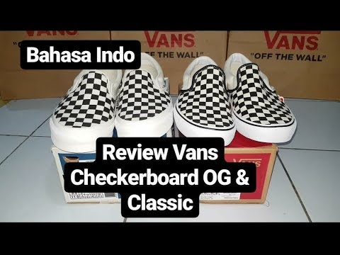 Vans Checkerboard OG Classic Slip On & Classic Slip On