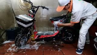 Hướng dẫn rửa xe điện M133 S - Xóa tan nỗi lo chập điện