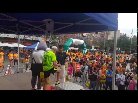 Carrera Correos Express por la ELA san adrián premiación campeonas 06/04/17