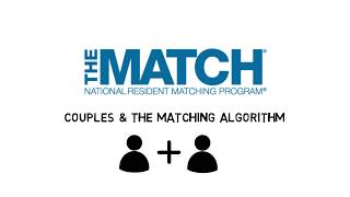 Couples And The NRMP Matching Algorithm