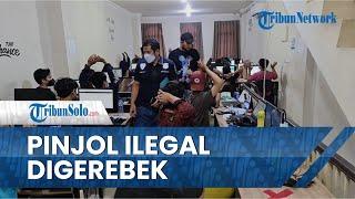 Video Detik-detik Polisi Gerebek Pinjol Ilegal di 7 Wilayah Jakarta, 7 Tersangka Miliki Peran Beda