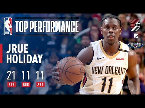 Jrue Holiday Scores First Triple-Double Of The Season