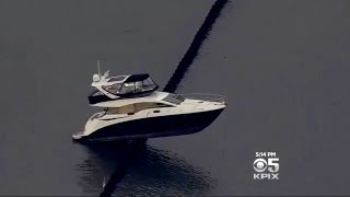 1.7 Million Dollar Yacht Crashes in Oakland Outer Harbor