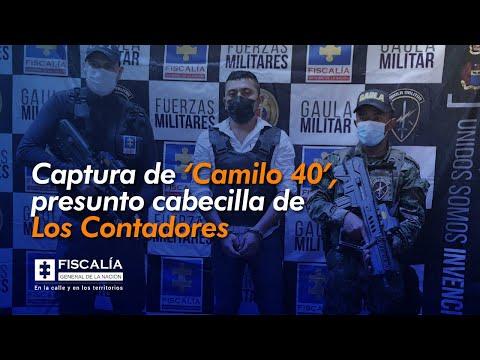 Captura de 'Camilo 40', presunto cabecilla de Los Contadores