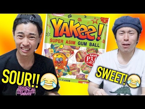 【FIRST TIME】JAPANESE TRIES SUPER SOUR FILIPINO CANDY!!