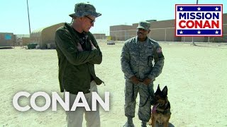 Conan Trains With The Military Working Dog Unit  - CONAN on TBS - Video Youtube