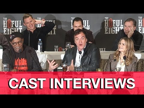 The Hateful Eight Interviews (Spoilers) - Quentin Tarantino, Channing Tatum, Samuel L. Jackson | MTW