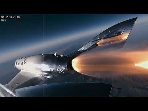 Historic Flight of Virgin Galactic's VSS Unity