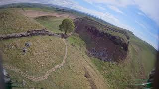 Hadrian's wall Sycamore gap mini drone fpv flight with failsafe recovery