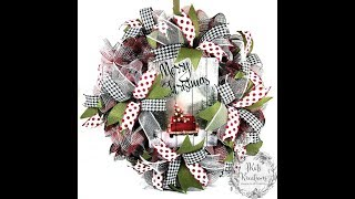 Mesh Ruffle Wreath Tutorial [with 30 Inch Ruffles]