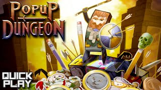 Popup Dungeon Gameplay! I Kickstarted This Game a Long Time Ago! (Quick Play)