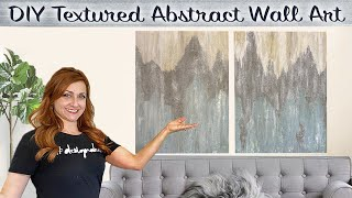 DIY Wall Art | Easy Canvas Painting Ideas On A Budget | Textured Abstract Canvas Art
