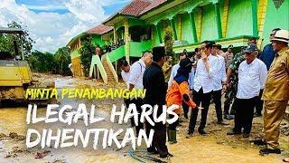 Banjir di Lebak, Jokowi Minta Pertambangan Emas Ilegal Dihentikan