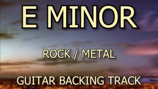E Minor Rock // Heavy Metal // Metal Guitar Backing Track