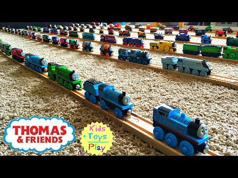 Thomas Wooden Railway Collection! Big Thomas the Tank Engine collection!