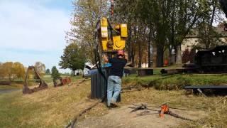 vibratory hammer pile driving sheet piling