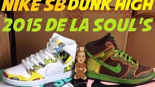 2015 Nike SB Dunk High De La Soul White Firefly Sneaker Review + On Feet + Comparision With @DjDelz