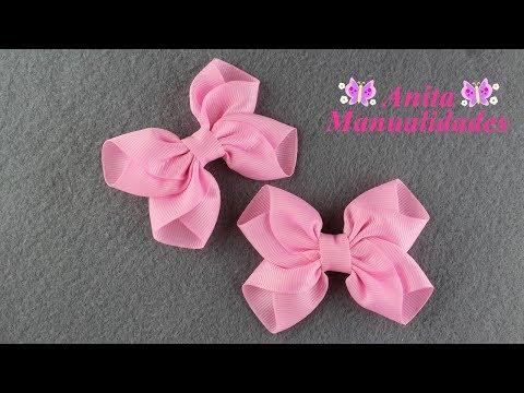 Moño Rosa Pares | Anita Manualidades