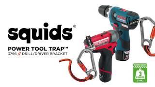 Squids 3796 Power Tool Bracket – Drill & Impact Driver Tool Trap