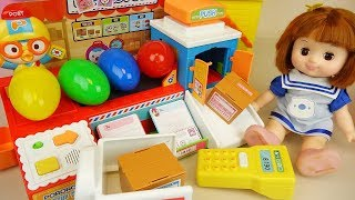 Baby doll and post office toys surprise eggs play