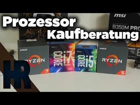 Prozessor Kaufberatung Mitte 2017 (Juni) Gaming CPU Kaufberatung Deutsch Intel AMD