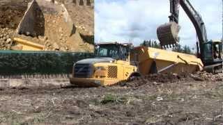 Digging Out The Stuck Volvo A30E Dumper