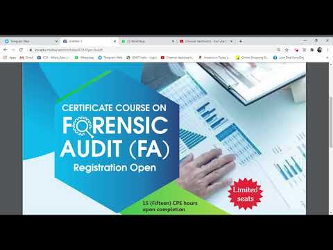 FORENSIC AUDIT (FA) CERTIFICATE COURSE offered by ICSI ...