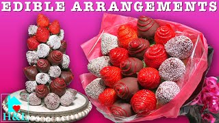 Strawberry Rose Bouquet (How To Make An Edible Arrangements) || Health And Lifestyle