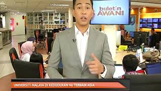 Universiti Malaya Di Kedudukan 46 Terbaik Asia