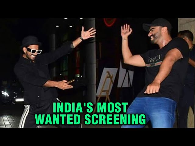 Ranveer Singh Arjun Kapoor Dance On Street | Media Goes Crazy | India's Most Wanted Screening