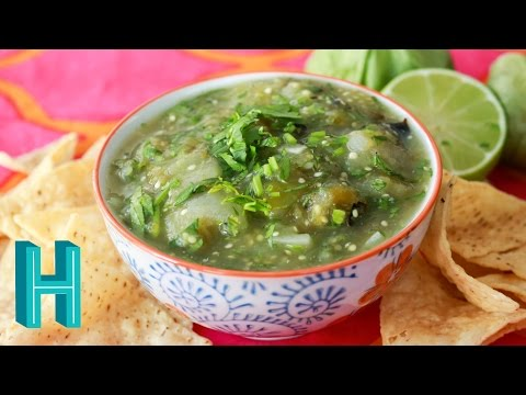 Salsa Verde – Tomatillo Salsa Recipe | Hilah Cooking