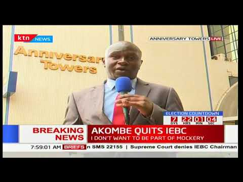 IEBC Chairman Wafula Chebukati is expected to make major announcement