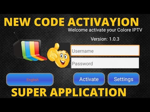 CODE ACTIVATION COLORE IPTV APK FOR ANDROID 2019 - смотреть