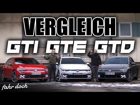 VW GOLF 8 GTI vs GTE vs GTD | Welcher passt zu dir? VERGLEICH | Fahr doch
