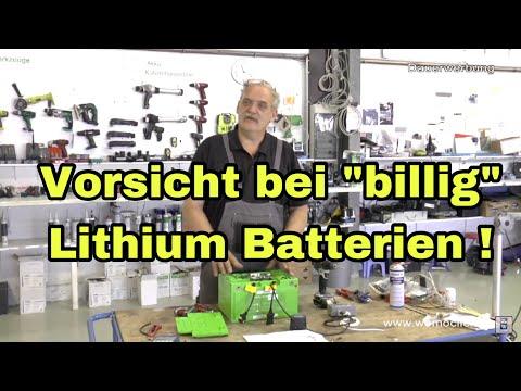 Vorsicht bei billig Lithium Batterien / womoclick