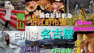 第1集---日本2019《名古屋 昇龍道之旅》名古屋自由行,高山,白川鄉,金澤  (使用昇龍道5日pass)