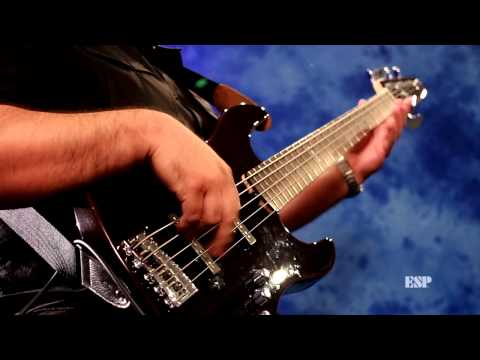 ESP E-II J-5 Bass Demo by Rene Camacho