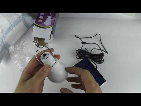 Лампа для КЕМПИНГА с аккумулятором на СОЛНЕЧНОЙ БАТАРЕЕ