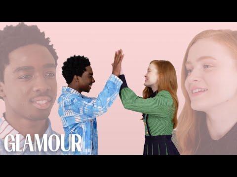 Stranger Things' Caleb McLaughlin and Sadie Sink Take A Friendship Test   Glamour