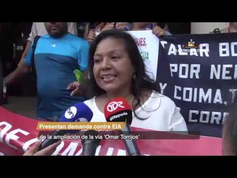 Presentan demanda contra EIA de la ampliación de la vía 'Omar Torrijos'