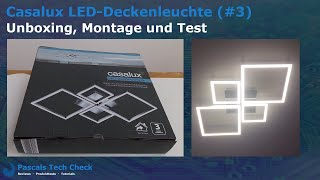 Casalux LED-Deckenleuchte (#3) Aldi || Unboxing, Montage und Test - Design Lampe (vier Quadrate)