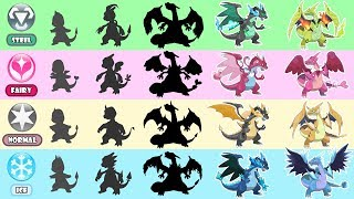 Mega Charizard Evolution Type Swap - Normal, Fairy, Steel, Ice type.