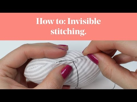 How To: Invisible Stitching (Slip Stitch / Ladder Stitch)