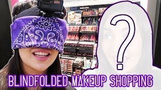 I Bought A Full Face Of Makeup Blindfolded - Video Youtube