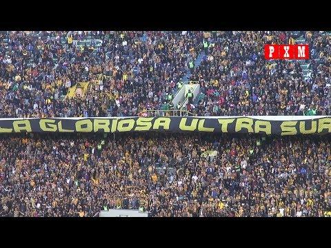 """""""Festejo del segundo gol de The Strongest y aliento hasta el final del Clasico paceño 208"""" Barra: La Gloriosa Ultra Sur 34 • Club: The Strongest"""