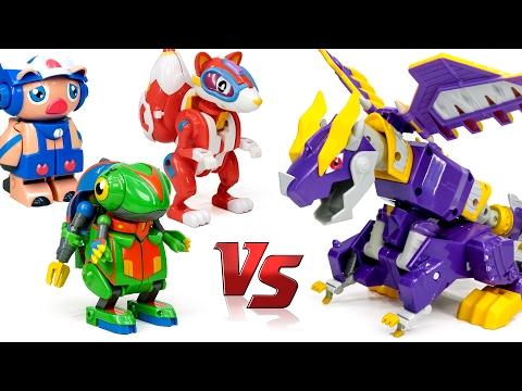 DragonForce 5 In 1 Otto Dragon Tyranno Steago Ptera Ankylo Raptor Dinosaur Robot Toy Transformation